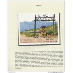 O) 1972 LESOTHO, TRAIN, RAILWAYS OF THE WORLD, SOUVENIR MNH