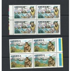 O) 1991 CHILE, AMERICA UPAEP, AMERICO VESPUCIO, NDIGENOUS DISCOVERY, BOAT-CARABE