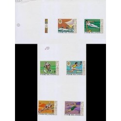 RG)1968 COOK ISLANDS, 19TH OLYMPIC GAMES, MEXICO CITY PROOFS, SAILING-GYMNASTICS