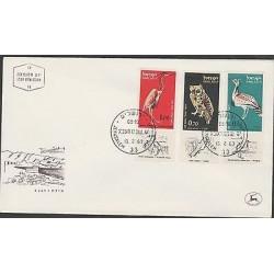 O) 1963 ISRAEL, BIRDS, WHIT TAB, FDC XF