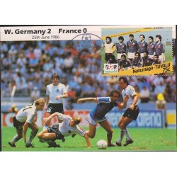 O) 1986 MICRONESIA-OCEANIA-NAURU, WORLD CUP 86-NANUMAGA-TUVALU, XF.