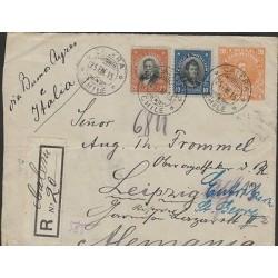 O) 1915 CHILE, 20 CENTAVOS BULNES, 10 CENTAVOS OHIGGINS, 20 CENTAVOS VALDIVIA, C