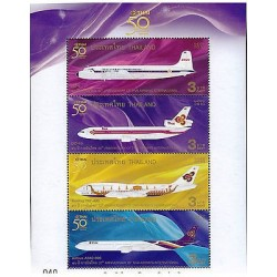 G)2010 THAILAND, AIRPLANES-INTERNATIONAL AIRLINE, 50TH ANNIVERSARY OF THAI AIRWA