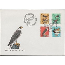O) 1971 SWITZERLAND, BIRDS - DUCKS, FDX XF