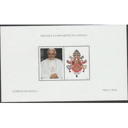 O) 2009 ANGOLA, BENEDICTO XVI POPE, VISIT TO ANGOLA, SOUVENIR MNH
