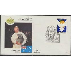 O) 1986 AUSTRALIA, POPE JOHN PAUL II-KAROL JOSEF WOJTYLA, FDC XF.