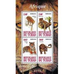 G)2010 CHAD, AFRICAN TIGERS, LEIPTAILURUS SERVAL-PANTHERA ONCA-PANTHERA TIGRIS-