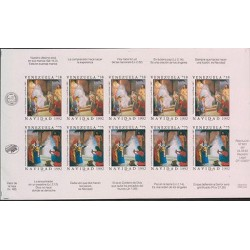 O) 1992 VENEZUELA, CHRISTMAS, CONJURER, IMPERFORATE, MINI SHEET MNH.