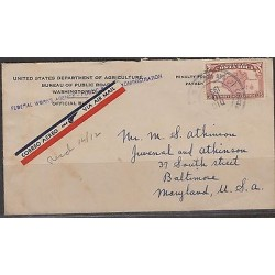 C) 1939 COSTARICA PENALTY COVER USED FROM COSTARICA TO MARYLAND