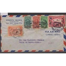 C) 1948 COSTARICA V-DAY PATRIOTAS OVERPRINTS AND SOCCERTO UNION DE REYES CARIBEA