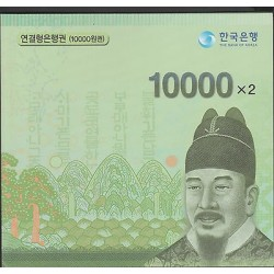 O) 2014 KOREA,UNCUTTED PROOF, BANK NOTE-10000 WON, KING SEJONG THE GREAT-1397-14