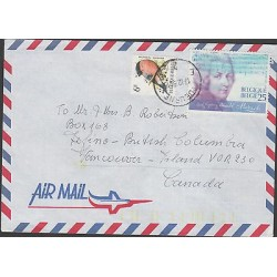 O) 1991 BELGIUM, PIANIST COMPOSER, AMADEUS MOZART, BIRD, COVER TO CANADA, XF
