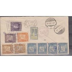 O) 1937 BOLIVIA, PRESIDENT, JOURNALIST MARIANO BAPTISTA, MAP, PANAGA AIRMAIL MUL