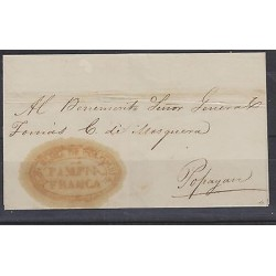 O) 1840 COLOMBIA, PRESTAMP COVER FROM PAMPNA, TO POPAYAN, ADDRESSED TO THE GENER