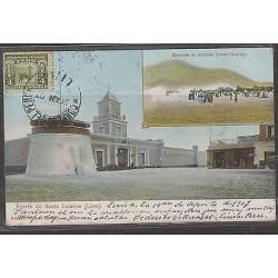 C) 1907, PERU POSTCARD SANTA CATALINA, LLAMITA 4 CTS XF