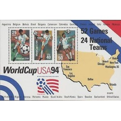O) 1994 UNITED STATES , WORLD CUP FOOTBALL, MAP, SOUVENIR MNH