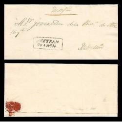E)1831 COLOMBIA, SOPETRAN - ANTIOQUIA, FRANCA BLACK BOX, RRR, EX SANTAMARIA