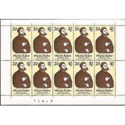 E)1983 GERMANY, MARTIN LUTHER, PAINTING, THEOLOGIAN, ART, S/S, MNH