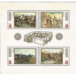 E)1971 BULGARIA, KHAN ASPARUCH CORSSING DANUBE, PEOPLE GREETIN RED ARMY