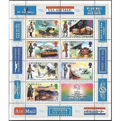 E)1974 ANTIGUA, 100TH ANNIVERSARY OF THE UNIVERSAL POSTAL UNION, AIR MAIL