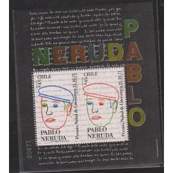 O) 1991 CHILE, NOBEL PRIZE IN LITERATURE 1971 PABLO NERUDA, CHILEAN WRITER, SOU