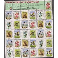 O) 1982 UNITED STATES, FAUNA AND FLORA, HABITAT, BIRD. FLOWERS, FISHES, ANIMALS,