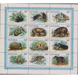O) 1981 GUYANA, MAMMALS, COENDOU, ALOUATTA, O) 1981 GUYANA, MAMMALS, COENDOU, AL