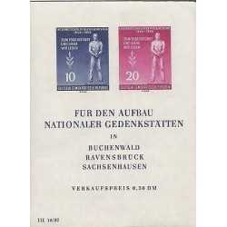 E)1955 GERMANY, INTERNATIONAL LIBERATION DAY, MEND BLUE AND RED