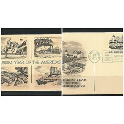 O) 1972 USA,LIGHTHOUSE MASSACHUSETTS,HORSE RODEO,STEAM BOAT - RIVER MISSISSIPPI,
