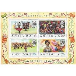 E)1973 ANTIGUA, BUTERFLY COSTUMES, CARNIVAL, CELEBRATION, FESTIVAL, SOUVENIR