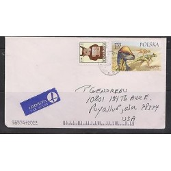 O) 2000 POLAND, DINOSAURS - PRENOCEPHALE, COVER TO UNITED STATES - USA, XF
