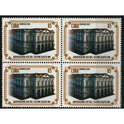 O) 2013 CARIBE, 150 YEARS SAUTO MN THEATER, BLOCK MNH