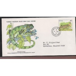 O) 1979 ST. VINCENT, REPTIL - GREEN IGUANA -IGUANIDAE, WORLD WILDLIFE FUND,FDC