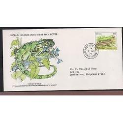 O) 1979 ST. VINCENT, REPTIL - GREEN IGUANA -IGUANIDAE, WORLD WILDLIFE FUND,FDC