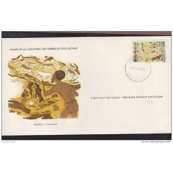 O) 1982 ZIMBABWE, PREHISTORIC PAINTING - CAVE PAINTING, FDC XF