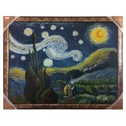 "R ""la noche estrellada / the starry night"" Assam, reproduction / postimpresionis"