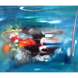 """""""Abstracto 40/Abstract 40"""", Alaín Hechavarría Licea, Expressionism"""