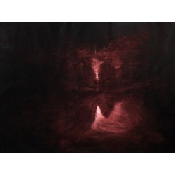 """Oscuro/Dark"" Jorge Miguel Tenreiro, Abstract Expressionism"