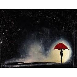 """""""Lluvia/Rain""""Jorge Texeira, Expressionisnm, 39.3 inches x 31.4 inches, 2016"""