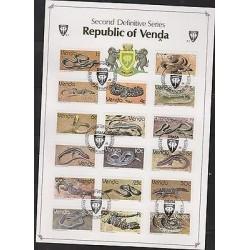 O) 1986 VENDA, REPTILES - CHORDATA, BLOCK MNH, CTO