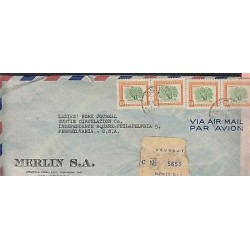 O) 1954 URUGUAY, TREE OMBU - PHYTOLACA DIOICA, COVER TO UNITED STATES, XF