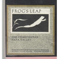 O) 1988 UNITED STATES - NAPA VALLEY, FROG, LABEL XF