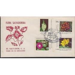 O) 1986 EL SALVADOR, FLORA - FLOWERS, FDC XF