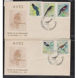 O) 1991 EL SALVADOR, BIRDS, FDC XF