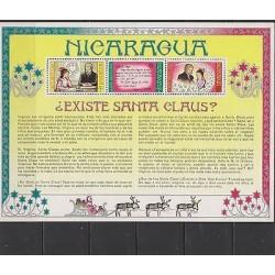 E) 1977, NICARAGUA, SANTA CLAUS EXISTS? SOUVENIR SHEET, MNH
