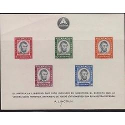 E) 1967 NICARAGUA, THOMAS DE LA RUE, SOUVENIR SHEET, MNH