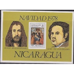 E) 1978 NICARAGUA, DÜRER 450 ANNIVERSARY – GOYA 150 ANNIVERSARY