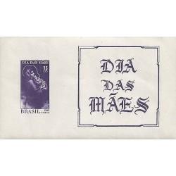 E)1967 BRAZIL, MADONNA AND CHILD BY ROBERT FERUZZI, A548, VIOLET, SOUVENIR SHEET