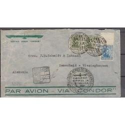 O) 1934 URUGUAY, CONDOR ZEPPELIN LUFTHANSA, MILITARY JOSE GERVASIO ARTIGAS, COVE