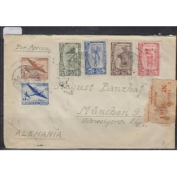 O) 1851 URUGUAY, AIRPLANE, AIRMAIL MULTIPLE TO GERMANY, XF